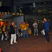 6After gig Street 'Busking' - attracting  crowd
