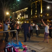 7After the Gig - Dancers at our street busking
